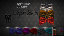 ^TD^ Elegant bow tie 10 patterns,hud control [FATPACK]