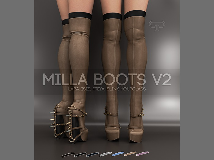Pure Poison - Milla Boots V2  Ad - ons for Isis, Freya, Maitreya, Hourglass High Feet