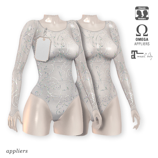 "alaskametro<3 ""Kristal"" sequin bodysuit 05   Appliers: Omega/Maitreya"