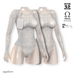 Alaskametro kristal sequin bodysuit 05 ice