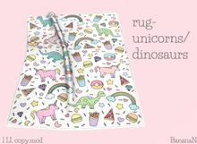 Rug -unicorns/dinosaurs