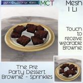 ~ASW~ The Pre Party Dessert Brownie - Sprinkles