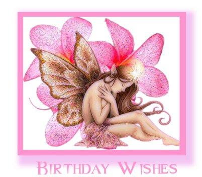 Fairy birthday wishes card