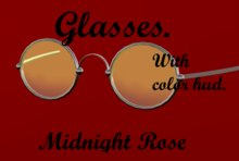 Glasses with color hud/ Boxed