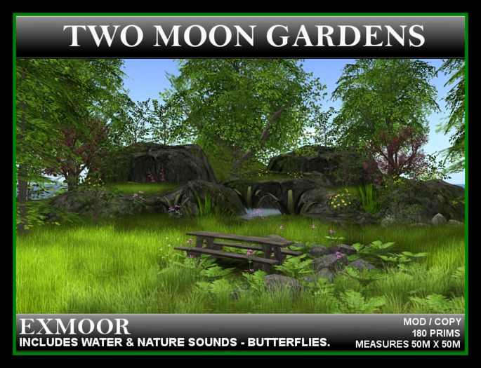 EXMOOR - Landscape Garden, rocky mountain terrain with animations and pond
