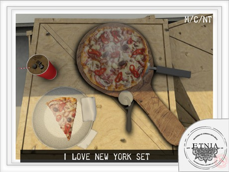 [ETNIA]  I Love NYC - Pizza Set