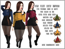 Sexy StarFleet Crew Uniform & Boots Women's Star Trek Dress OS & TNG Cosplay Costume Maitreya Lara Slink Belleza Tonic