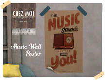 Music Wall Poster ♥ CHEZ MOI