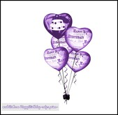 mesh Balloons Happy Birthday lilac