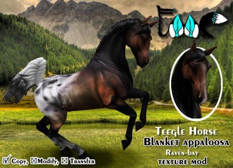 [FMC] Teegle Horse mod - Blanket appaloosa (Raven-bay)