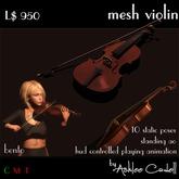 Mesh Violin with static bento poses and playing anim