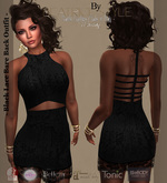 """""""BeatriceStyle"""" - Black Lace Bare Back Outfit"""
