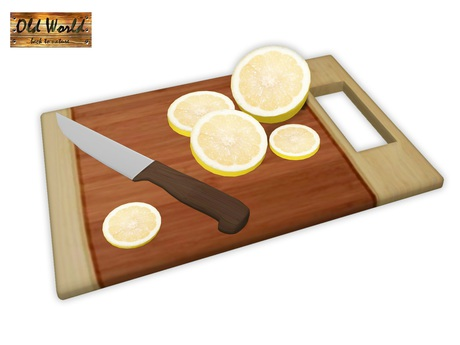 Old World Gift - Lemon on cutting board - Food for kitchen