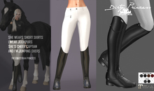 *Dirty Princess* The Equestrian Princess Boots/Breeches WHITE