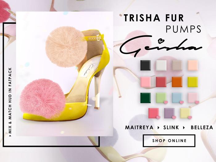 (Geisha.) Trisha Fur Pumps - FATPACK