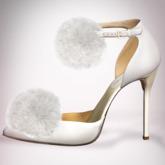 (Geisha.) Trisha Fur Pumps - Ivory