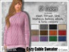 [Phunk] Women's Cozy Cable Sweater (12 Colors)