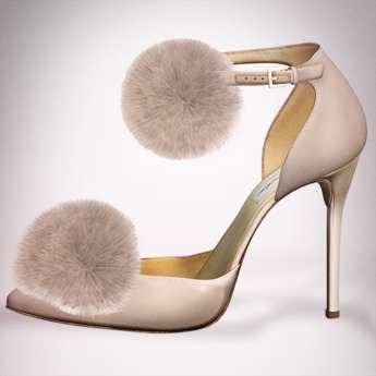 (Geisha.) Trisha Fur Pumps - Nude