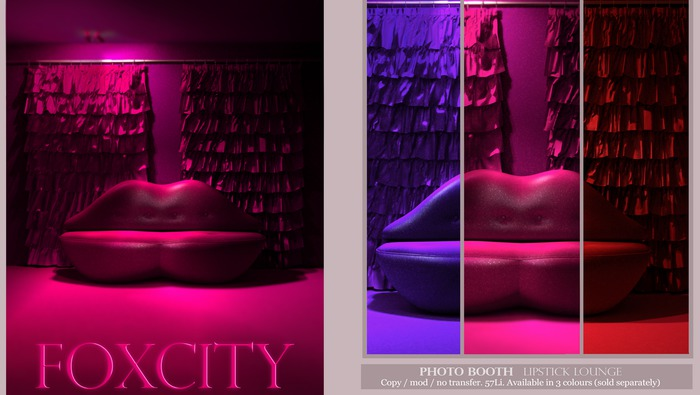 FOXCITY. Photo Booth - Lipstick Lounge (FATPACK)