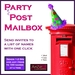 ArtiZan Party Post Mailbox