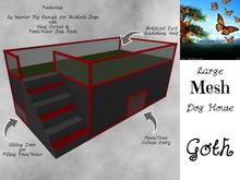 Lg Mesh Dog House - Goth