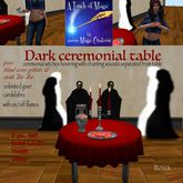 Dark Ceremonial Table gives Blood wine goblet & Steak Tar Tar-C