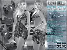 DEMO - Bella Moda: Batik Spice Halter Sarong Shoes Outfits: Maitreya/Classic/Physique/Hourglass/Isis/Venus/Freya+Std