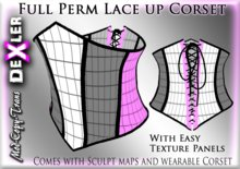 Full Perm Lace Up Corset by Dexler --------------