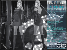 DEMO - Bella Moda: Amore Dress & Boots Outfits Fitted Maitreya/Classic/Physique/Hourglass/Isis/Venus/Freya+5xStd