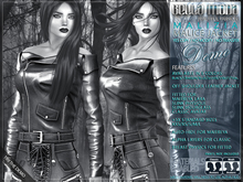"""DEMO - Bella Moda: """"Malizia"""" Malice Leather Jackets fitted for Maitreya/Slink Physique HourGlass/Classic+Std Sizes"""