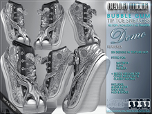 DEMO - Bella Moda: Bubble-Gum Sequin Tip Toe Sneakers with 6 Designs in HUD - Fitted for Maitreya/Slink/Belleza + Resize