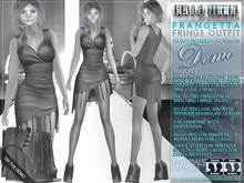 DEMO - Bella Moda: Frangetta Fringe Dress & Shoes Outfits Fitted for Maitreya/Physique/Hourglass/Classic+Std Sizes
