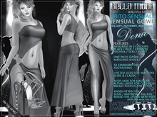 DEMO - Bella Moda Abito Sensuale Sensual Gowns & Shoes - Fitted Mesh for Maitreya/Slink/Classic+Std Sizes