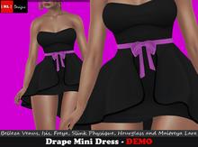 [ RL ] Designs - Drape Mini Dress - DEMO