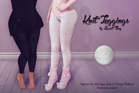Sweet Thing. Knit Leggings - Purity Applier (Maitreya, Slink, Omega)