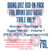 Sound Quiz PK12_MOV_SuperheroVol1 add on pack