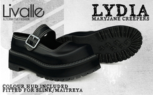{Livalle} Lydia - Mary Jane Creepers - Black