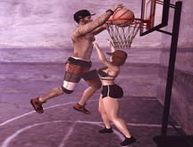 ++ Vetro Poses - Couple playing basketball 01 ++