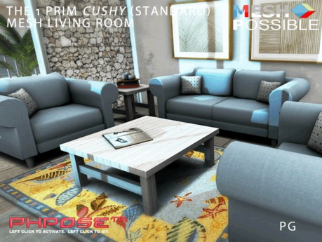 ・・・  1xPRIMxPGxCUSHY  ・・・ ・・・  Mesh Living Room  ・・・