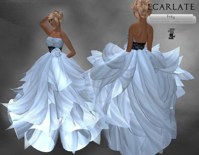 Ecarlate - Cocktail Dress, Blue Dress  Gown Wedding Formal/ Robe de soirée formelle Bleu - Frity