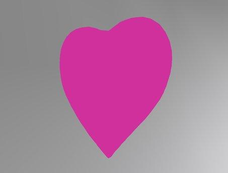 pink  heart personal Tip Jar