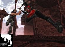 Black Cats poses - Katana fight 4