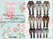 {MC} Grandma's Sofa Floral Jeans Mod
