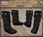*LightStar - Fringe Boots-Black