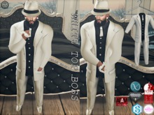 {RC}White &Black Top Boss Suits
