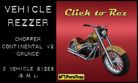 "(PeraTrax) - Vehicle Rezzer ""V2 Grunge"" - Bike Rezzer - Chopper Rezzer - Motorcycle Rezzer - Motorbike Rezzer"