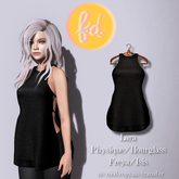 (fd) Cutout Tank Dress - Black Maitreya Lara/Slink Physique+Hourglass/Belleza Freya+Isis (MESH)