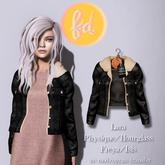 (fd) Vintage Suede Jacket - Black Maitreya Lara/Slink Physique+Hourglass/Belleza Freya+Isis (MESH)