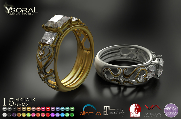 ~~ Ysoral ~~ .:Luxe Wedding Ring Tessa:.(BENTO & UNRIGGED)
