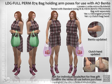 LDG-FULL PERM 874 Bento Bag Holding Arm Poses - AO Compatible /2 poses+2 wide+mirror/2 Types Clutch Holding / Builderkit